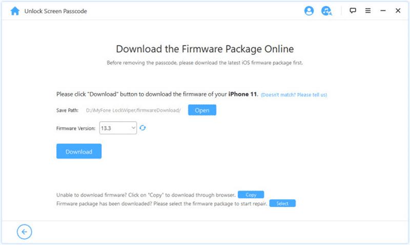 télécharger le package du firmware pour guider l'iPod désactivant