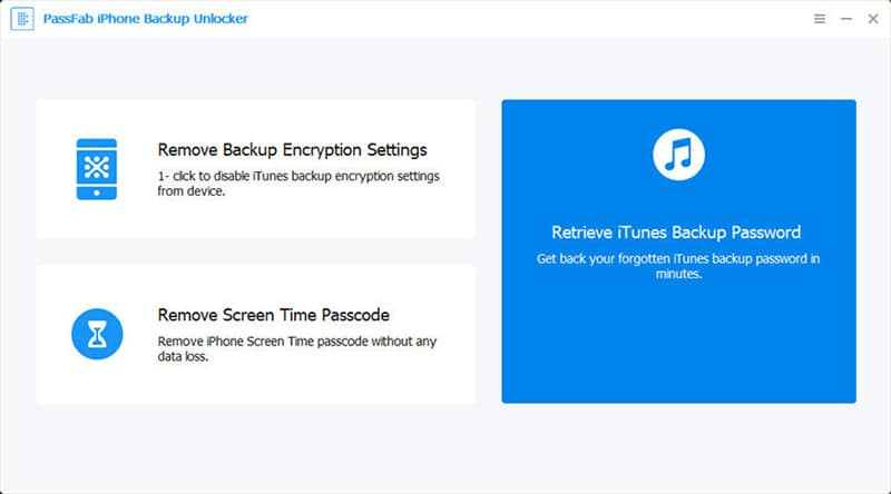 PassFab iPhone Backup Unlocker