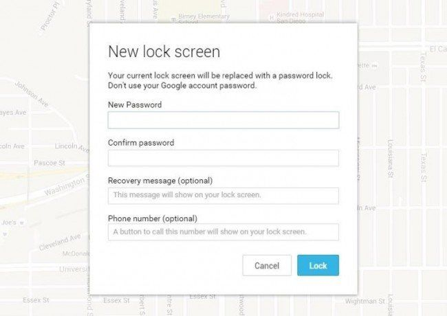 enter a new temporary password to unlock LG phone