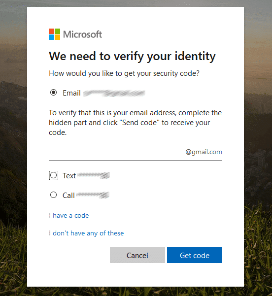 other option for verification to bypass password use Microsoft account
