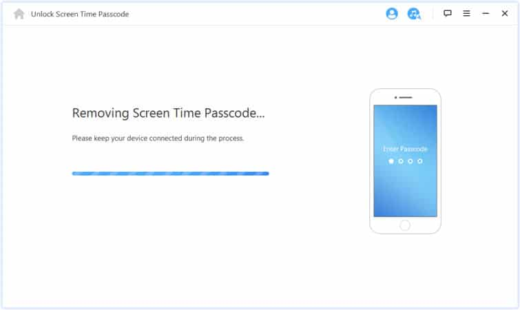 removing the screen time passcode from the device