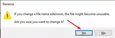 rename excel file extension to zip