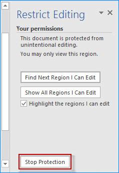 arrêtez la protection des RTF fichiers