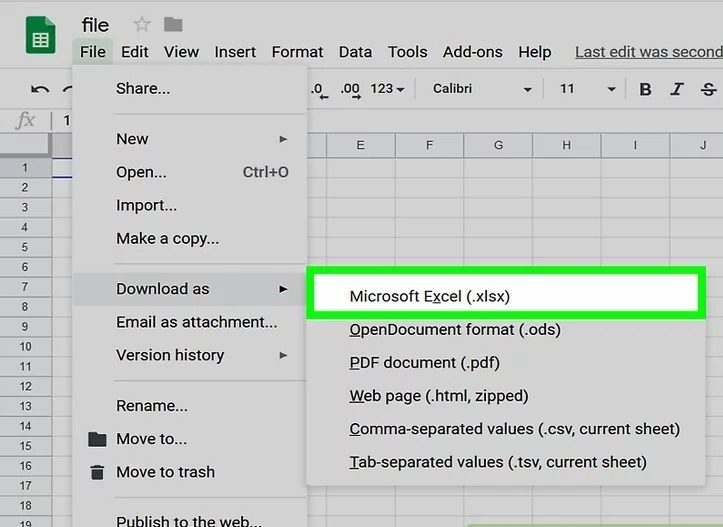 download as xlsx to save the unlocked excel file