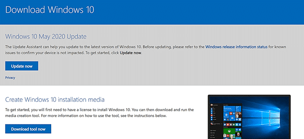 download Windows 10 for updating Windows Vista to Windows 10