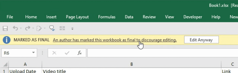 "click ""Edit Anyway"" button to remove read only from excel"