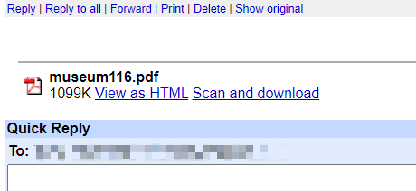 "Click ""View as HTML"" option"