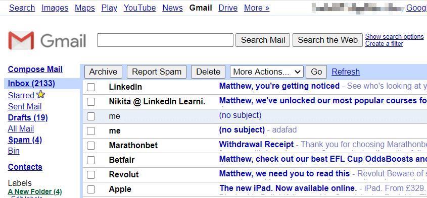 ouvrez Gmail en HTML pour cracker le mot de passe du PDF protégé