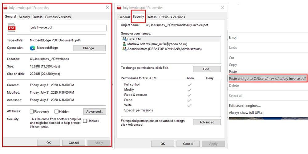 sélectionnez sécurité pour cracker le mot de passe du PDF protégé