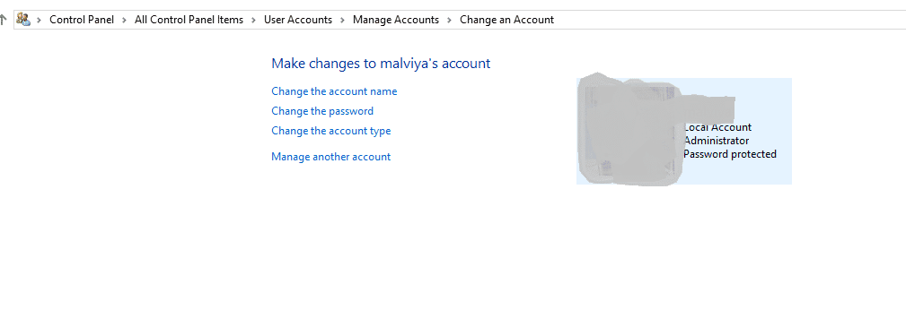 click Change the password for the locked Sony laptop